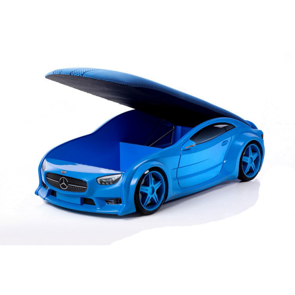 Кровать машина синяя марки «Мерседес» (NEO 3d)