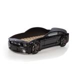Кровать-машина Мустанг черная (3d пластик)