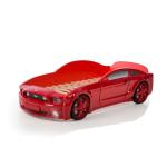 Кровать-машина Мустанг красная (3d пластик)