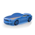 Кровать-машина Мустанг синяя (3d пластик)