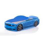 Кровать-машина Мустанг синяя (PLUS)
