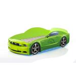 Кровать-машина Мустанг зеленая (PLUS)