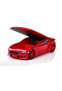 Кровать-машина Тесла красная (серия NEO 3d объемная)