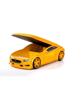 Кровать-машина Тесла желтая (серия NEO 3d объемная)