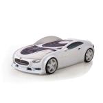 Кровать-машина Тесла белая (серия NEO 3d объемная)