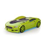 Кровать-машина Тесла зеленая (серия NEO 3d объемная)