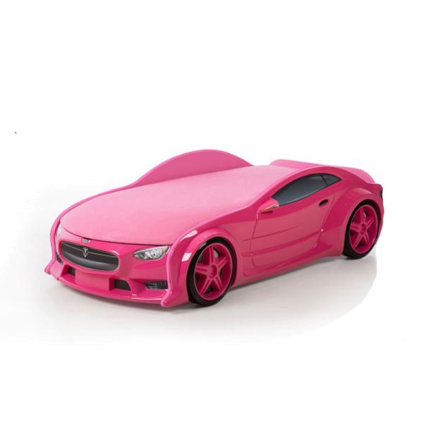 Кровать-машина Тесла розовая (серия NEO 3d объемная)