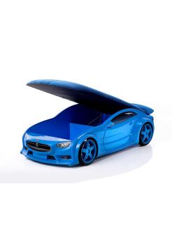 Кровать-машина Тесла синяя (серия NEO 3d объемная)