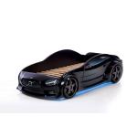 Черная кровать машина Вольво (EVO 3d)