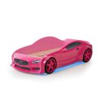 Кровать машина Вольво (EVO 3d) в розовом цвете