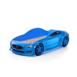 Кровать машина Вольво (EVO 3d) синего цвета