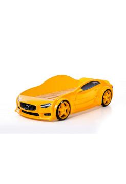 Желтая кровать машина Вольво (EVO 3d)