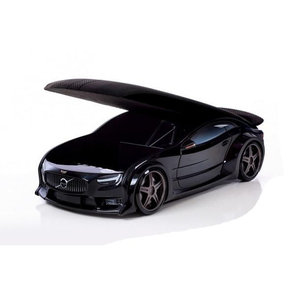 Кровать-машина «Вольво» черная (серия NEO 3d объемная)