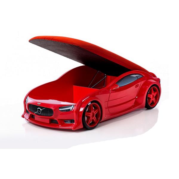 Кровать-машина «Вольво» красная (серия NEO 3d объемная)