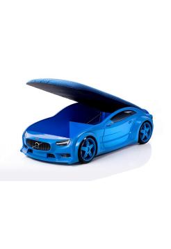 Кровать-машина «Вольво» синяя (серия NEO 3d объемная)