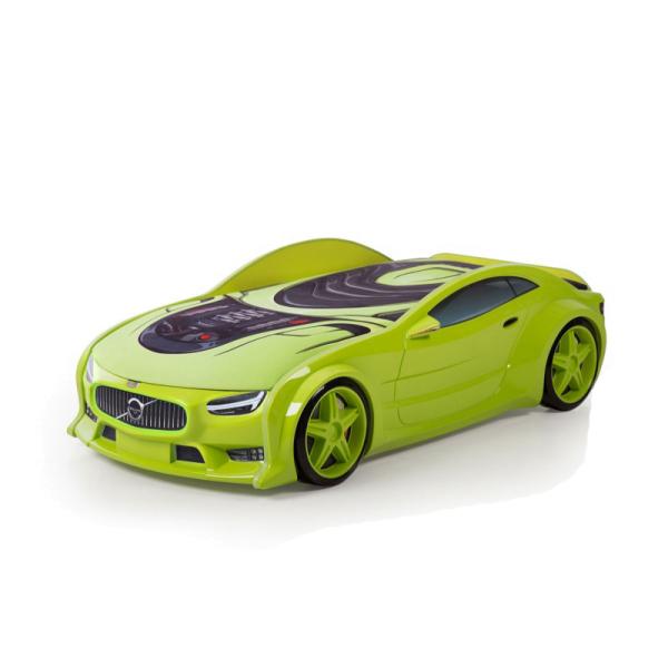 Кровать-машина Вольво зеленая (серия NEO 3d объемная )