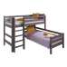 """Угловая кровать """"Соня""""- Вариант 7 ( с прямой лестницей )"""