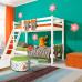 """Двухъярусная кровать """"Соня""""- Вариант 10 ( с наклонной лестницей )"""