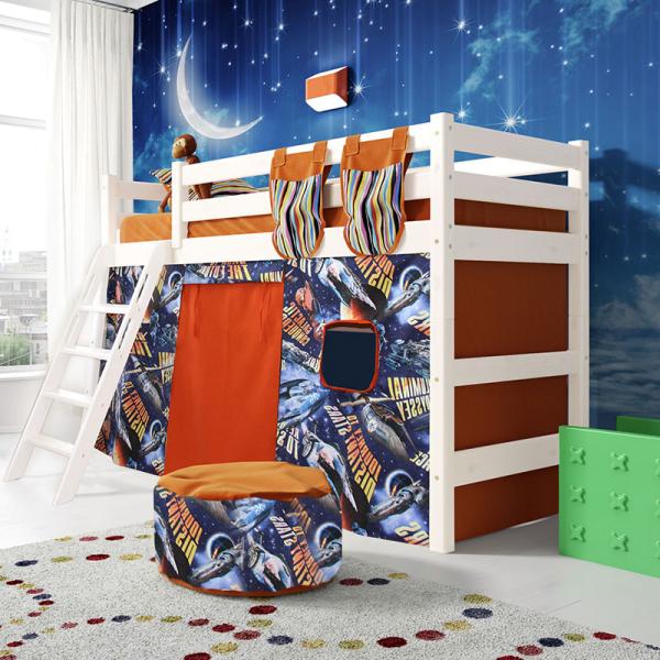 """Полувысокая кровать """"Соня""""- Вариант 6 ( с наклонной лестницей )"""