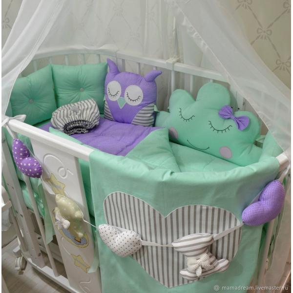 Бортики Мама в кроватку