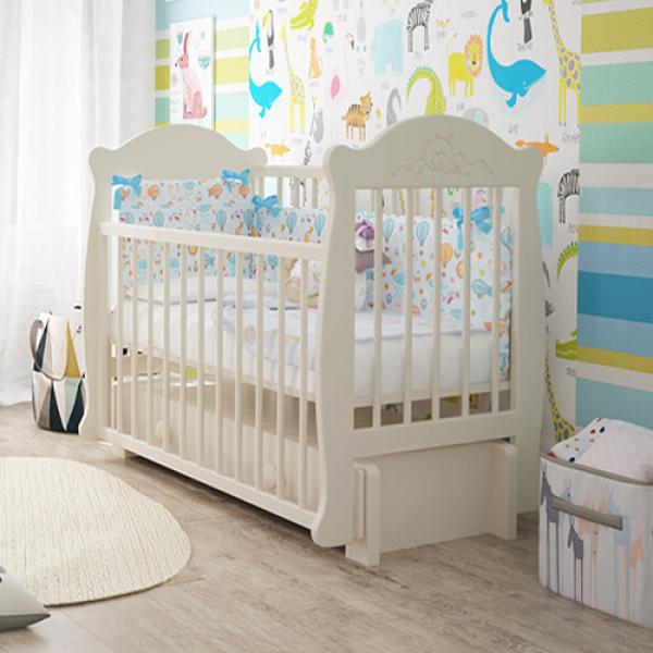 Детская кроватка «Mishutka» (Мишутка) из серии «Milano»