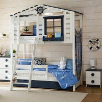 Детская 2-ярусная кровать домик Бильбао
