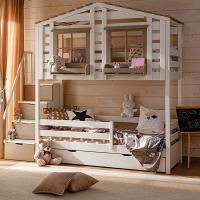 Детская 2-ярусная кровать домик Бильбао СЛК