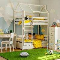 Детская 2-ярусная кровать домик Мадрид