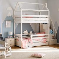 Детская 2-ярусная кровать домик Мадрид СЛК