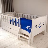Детская кровать Варкаус-Якорь (Бейц Браун, 800х1600, СПб)