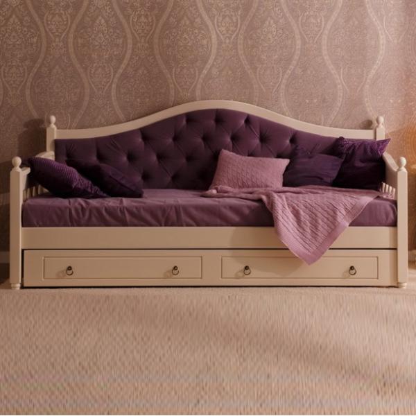 Тахта кровать Уппсала с мягкой спинкой – шик и изысканность