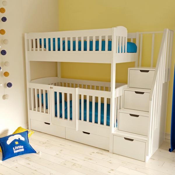 Двухъярусная кровать Нокиа с лестницей-комодом