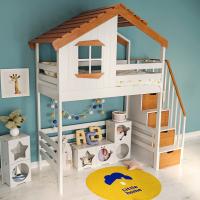 """Детская кровать-чердак """"Таллин"""" с лестницей-комодом"""