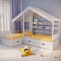 Детские кровати домиком Эдинбург-2 (с крышей)