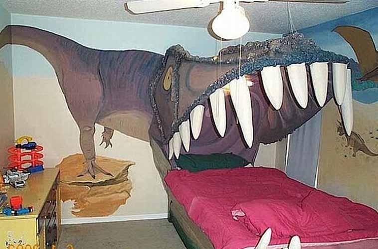 Дизайн детской с диназаврами