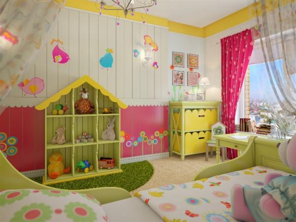 Пример плохой цветовой гаммы для детской комнаты