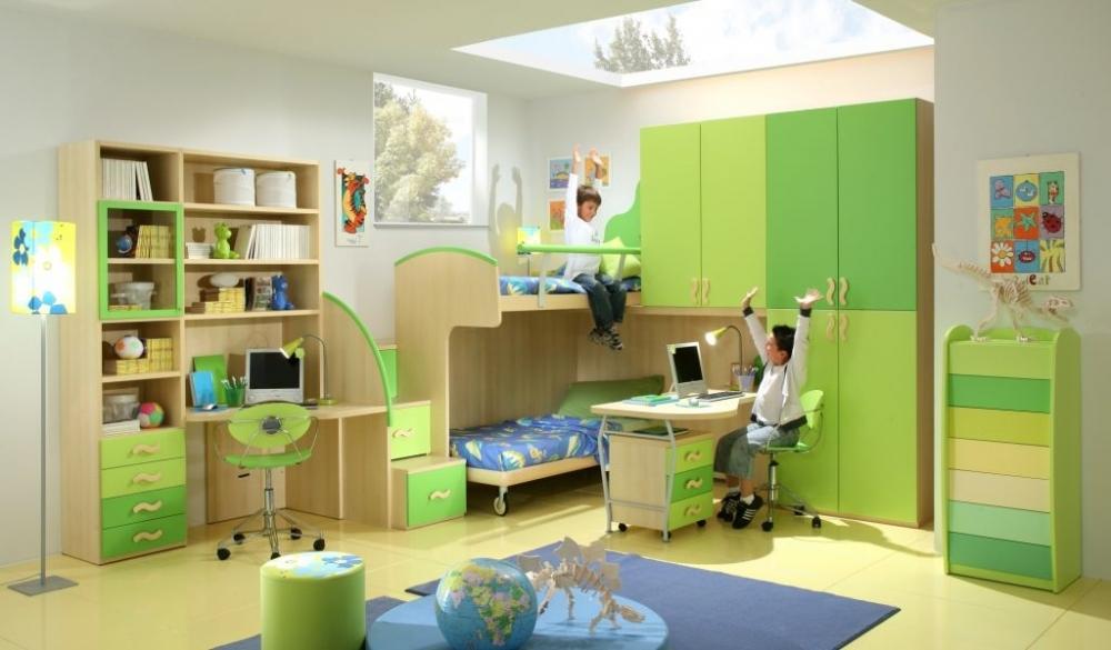 Зеленый цвет детской