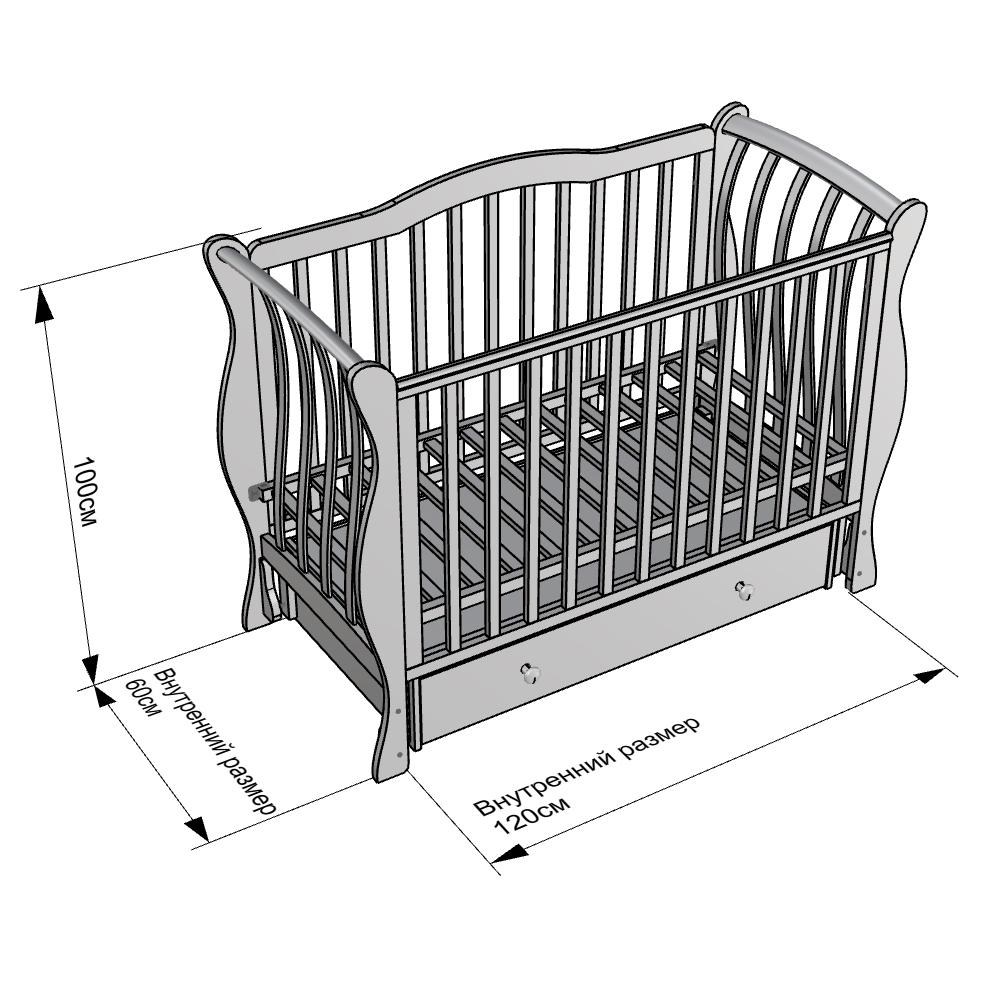 Каков стандарт для простыни в кроватку новорожденного?.